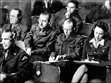 Dick Clark at the Nuremberg Trials, to the right of colleague Walter Cronkite