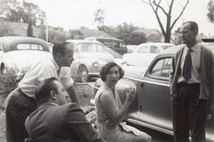 Dennis Wahren, Terry Gallacher, Mary Wahren, Nandor Jenes.