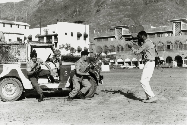 Mohinder filming British army in action in Steamer Point in Adenin 1967.
